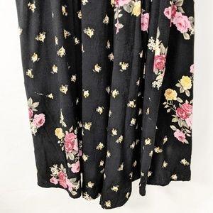 Torrid Dresses - Plus Size Torrid Black Floral Dress